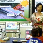 太陽熱エネルギー授業 (岩手県住田町小学校3年)